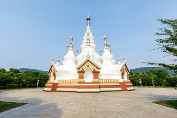 Manfeilong pagoda at Lingshan Scenic area in Wuxi China located in Jiangsu province