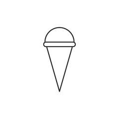 Outline icecream icon isolated on white background