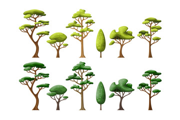 Set with some different trees