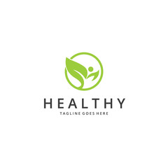 Healthy logo. Ecology logo