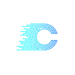 Letter C logo design template,technology,electronics,digital,logotype