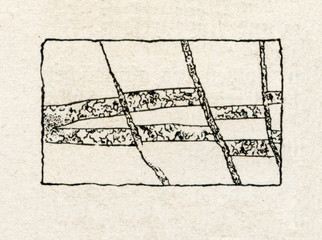 Splitting and switching of mineral layers (from Meyers Lexikon, 1895, 7/64)