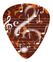 Treble Cleff Plectrum