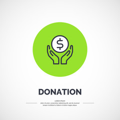 Isolated icon of donations