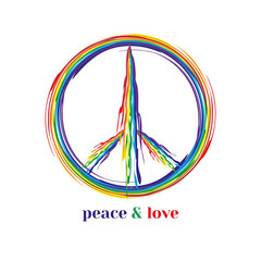 Peace symbol concept