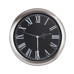 Clock shows half of the third