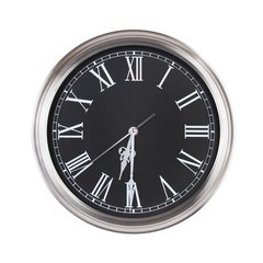 Half of the seventh on a clock face