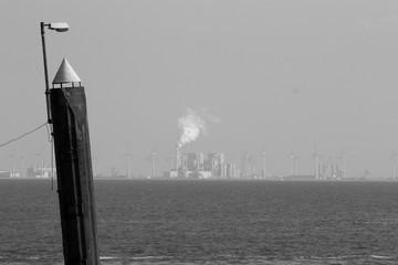 Laterne in der Nordsee