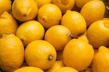 stack of fresh lemons