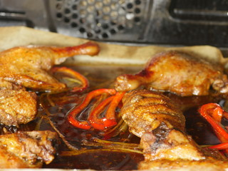 roast duck  and paprika