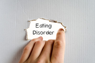 Eating disorder text concept