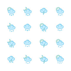 weather color flat icons