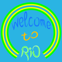 Welcome to Rio. Vector illustration.