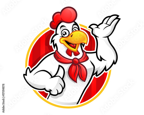 quotchicken logo chicken mascot chicken character suitable