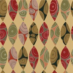 Abstract background with colored elements. Multi-colored figures on a colored background.
