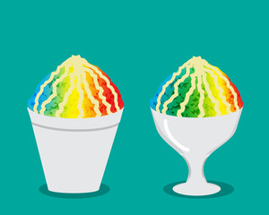 Hawaiian shave ice with rainbow color