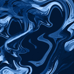 Abstract blue background with liquid paint texture