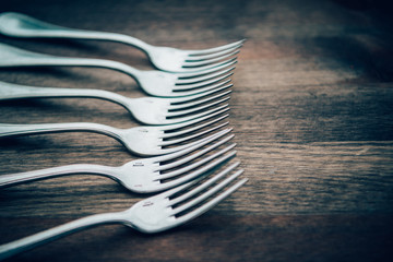 Row of Forks