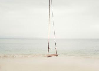 Rope swing on the beach. Ko Pha Ngan, Thailand