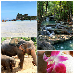 Collage Thailandia - panorami thailandesi