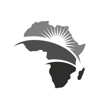 africa map logo vector