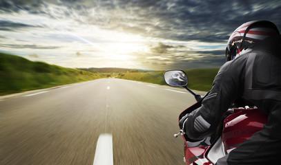 Fast Motorbike POV Wall mural