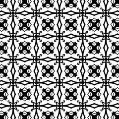 Ornament with elements of black and white colors. F
