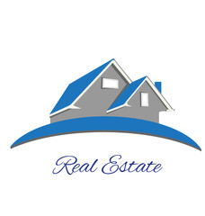 Logo Real estate blue house