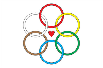 Symbol of friendship of the six hoops