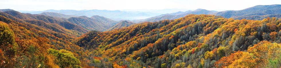 Zelfklevend Fotobehang Bergen autumn mountain and colorful forest