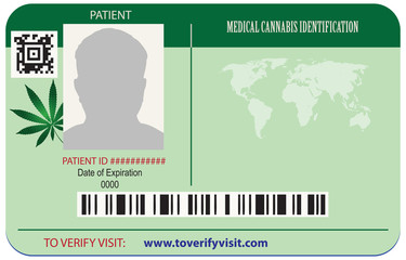 Identification card patient marijuana