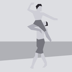 Cubism Dancing Poster