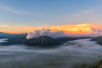 Mt Bromo volcano at sunrise