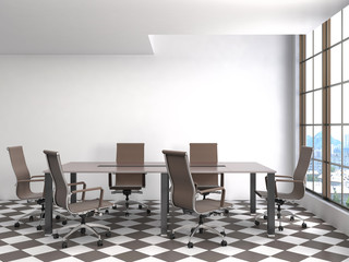 Office interior. 3D illustration