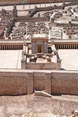 Gerusalemme: vista del modello del Secondo Tempio al Museo d'Israele il 7 settembre 2015. Inaugurato nel 1966, è un modello in scala di Gerusalemme prima della distruzione del Tempio