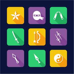 Ninja Icons Flat Design