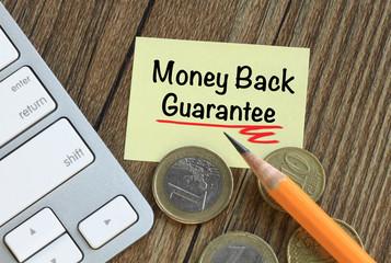 money back guarantee message
