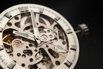 Detail of watch machinery.