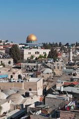 Gerusalemme: vista della Cupola della Roccia dalle mura il 6 Settembre 2015. La Cupola della Roccia è il Santuario islamico sul Monte del Tempio