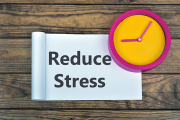 Clock and word Reduce Stress