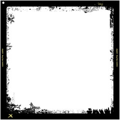 grungy medium format film frame,with free copy space,vector
