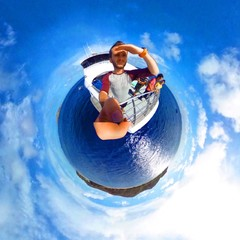 Deep Ocean Planet is a tiny planet concept using a camera 360 tricks and editing.