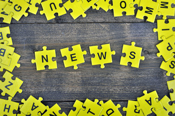 Puzzle with word News