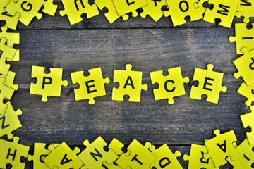 Puzzle with word Peace
