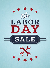 Labor day sale. Vector banner.