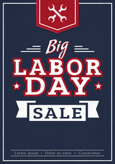 Big Labor Day sale. Vector banner.