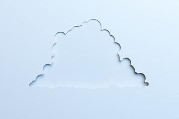 White cloud symbol for web design.