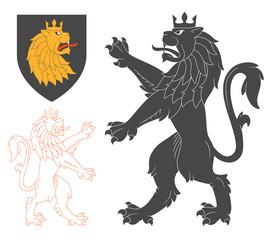 Black Lion Illustration
