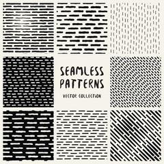 Set Geometric Vector Seamless Pattern