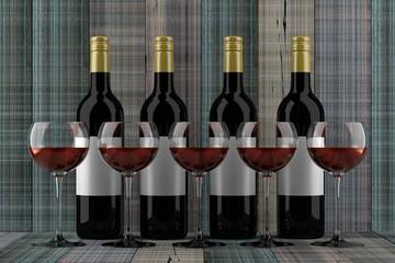 wine 3D rendering